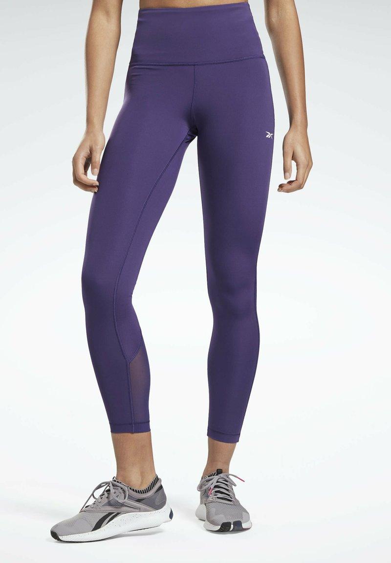 Reebok - LUX SPEEDWICK LEGGINGS - Leggings - purple