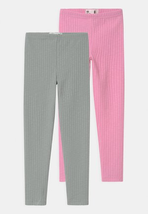 HUGGIE 2 PACK - Leggings - Trousers - cali pink/stone green