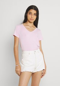 Hollister Co. - EASY MULTIPACK  3 PACK - T-shirt - bas - white/pink mist/xenon blue - 2