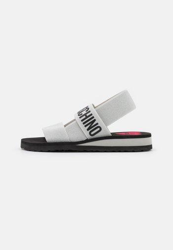 Wedge sandals - argento