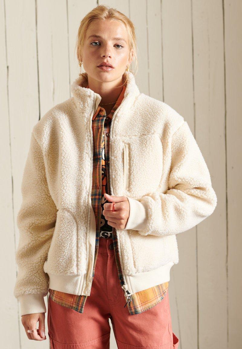 Superdry - SHERPA - Fleece jacket - pale oatmeal