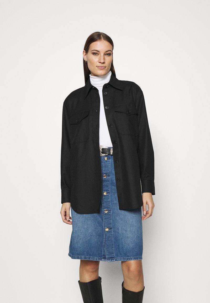 ARKET - Summer jacket - black dark