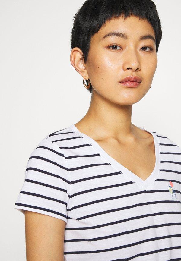 Esprit CORE - T-shirt z nadrukiem - navy W paski Odzież Damska CDRJ TP 7