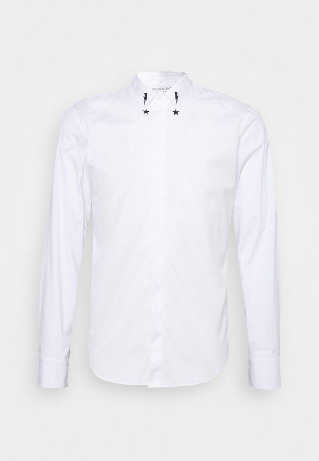 STARBOLT PRINTED COLLAR - Camicia - white/black