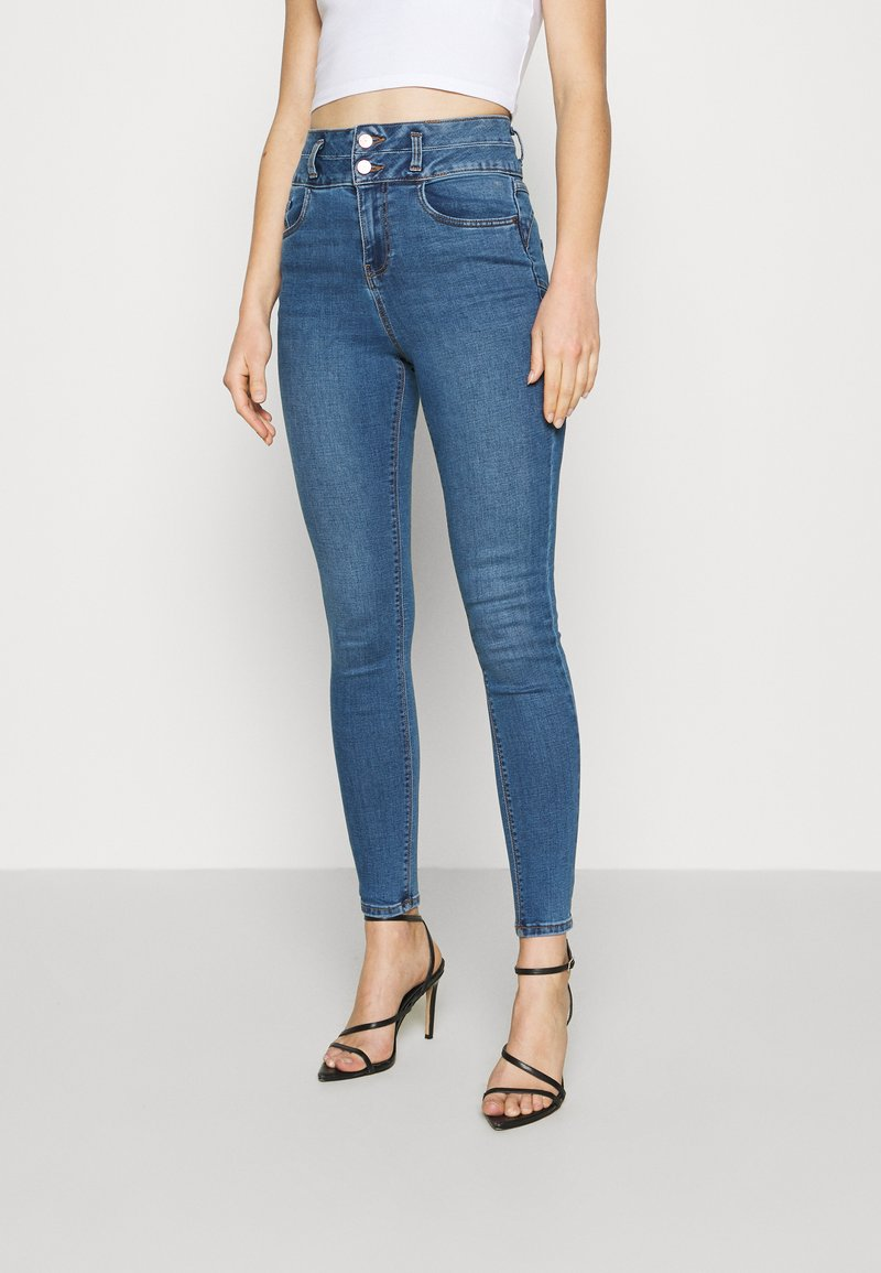 New Look - LIFT AND SHAPE HIGHWAIST - Jeans Skinny Fit - mid blue