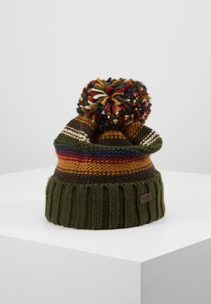 HARROW STRIPE BEANIE - Beanie - olive mix