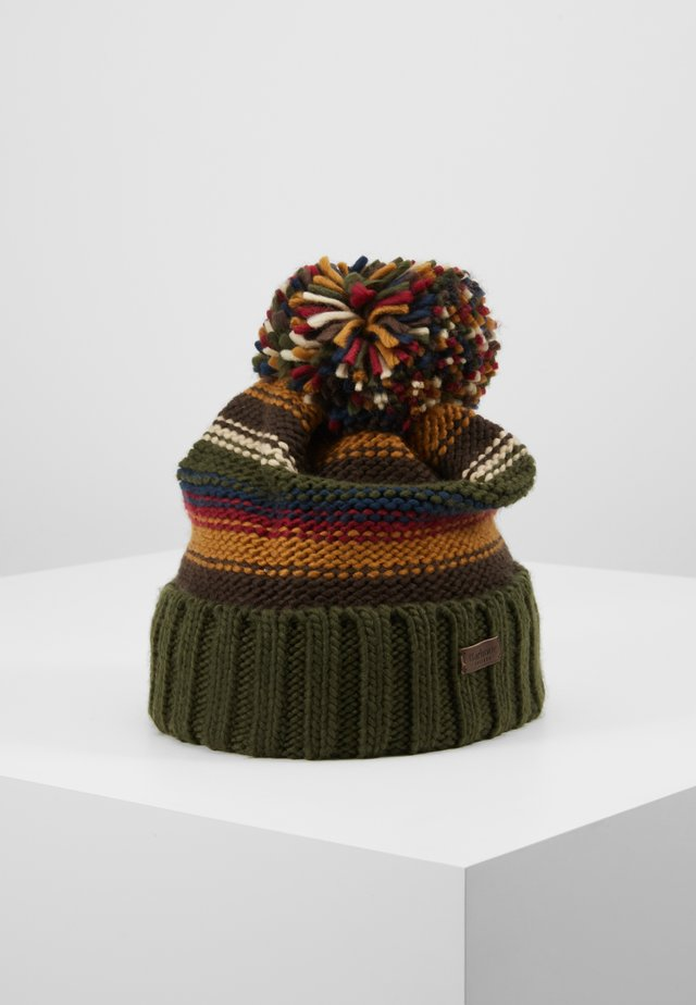HARROW STRIPE BEANIE - Czapka - olive mix