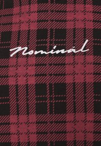 Nominal - CHECK HOODIE - Collegepaita - burgundy - 2