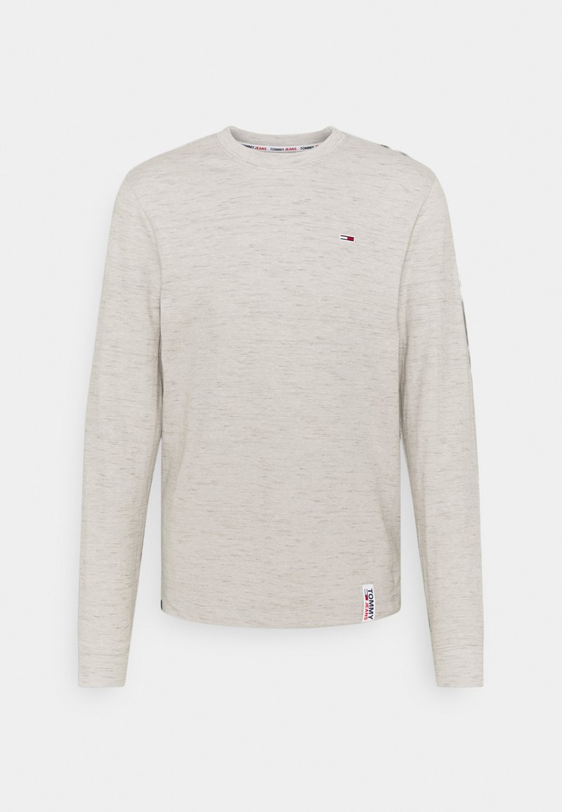 Tommy Jeans - CREW NECK SNIT - Long sleeved top - silver grey