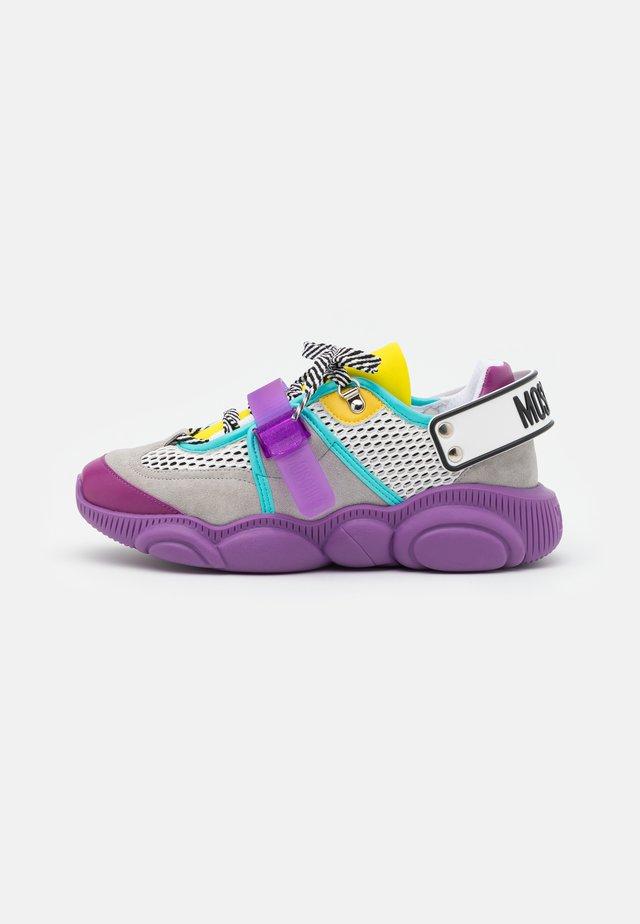 Sneakers laag - multicolor/purple/grey