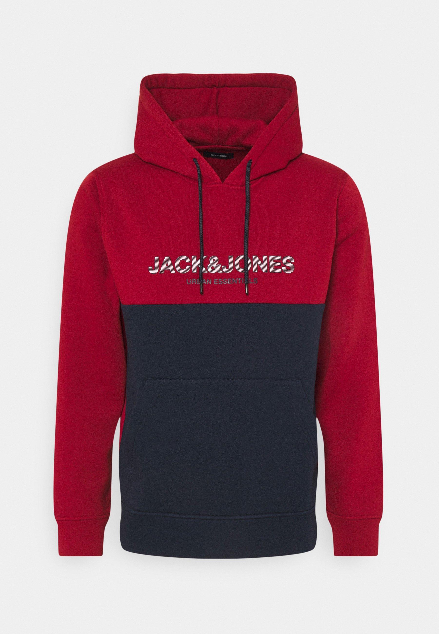 Herren JJEURBAN BLOCKING HOOD - Sweatshirt