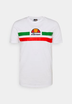 APRELA TEE - T-shirt con stampa - white/green