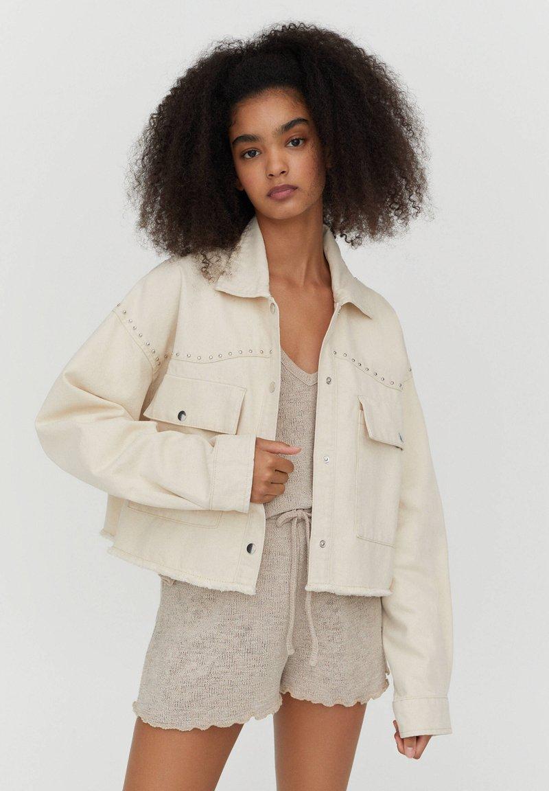PULL&BEAR - Denim jacket - white
