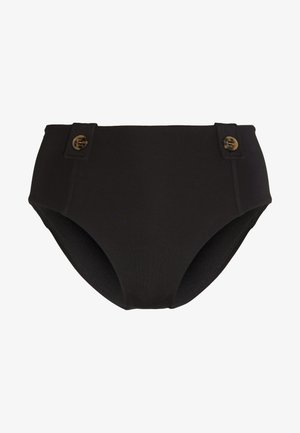 ACTIVEHIGH WAISTED BUTTONS - Bikini bottoms - black