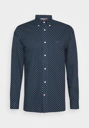 FLORAL GEO PRINT - Shirt - blue