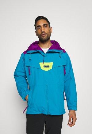 MONASHEE ANORAK - Hardshell jacket - fjord blue/plum/bright chartreuse