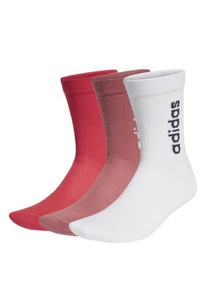HALF-CUSHIONED VERTICAL CREW SOCKS 3 PAIRS - Calcetines - white
