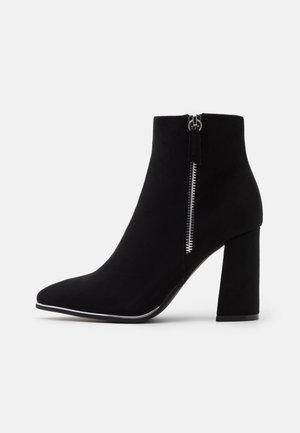AMARIA RAND DETAIL - Højhælede støvletter - black