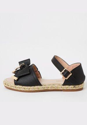 GIRLS BLACK BOW ESPADRILLE SANDALS - Sandals - black