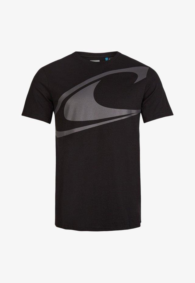 T-shirt print - black out