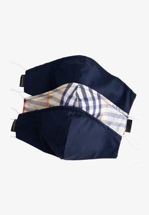 3ER PACK - Stoffen mondkapje - karo / dunkelblau