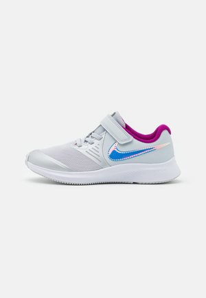 STAR RUNNER 2 POWER UNISEX - Neutral running shoes - pure platinum/multicolor/barely volt/red plum/white