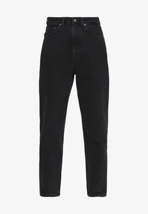 MEG HIGH MOM WASHED BACK - Straight leg jeans - washed black