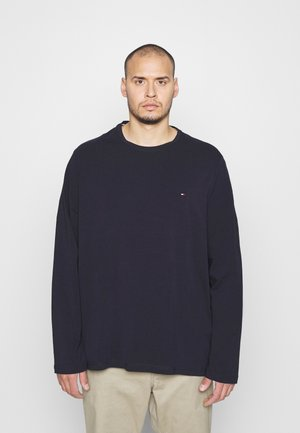 STRETCH SLIM FIT TEE - Longsleeve - blue