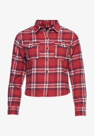 HERITAGE CHECK CROPPED - Button-down blouse -  red