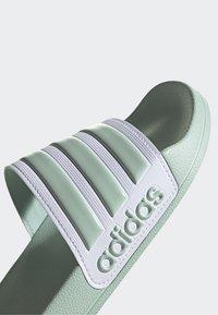 adidas Performance - ADILETTE SHOWER SLIDES - Pool slides - green tint - 8