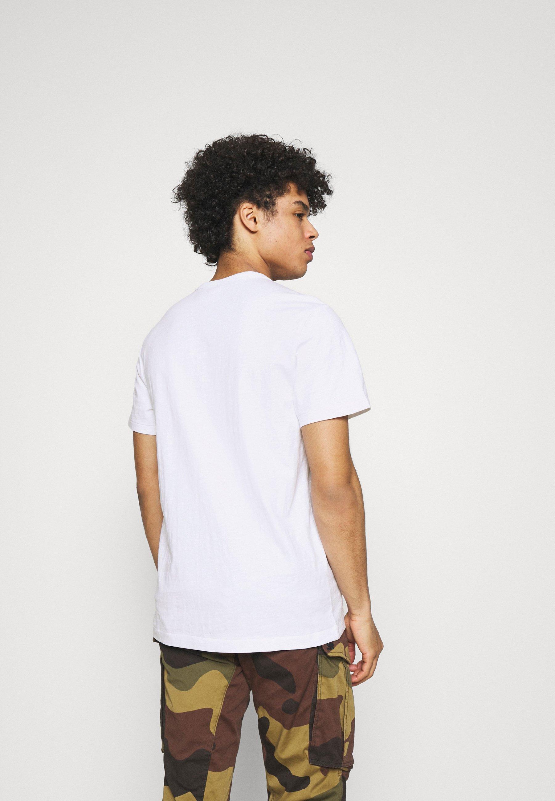Men CONTRAST MERCERIZED PKT R T SS - Basic T-shirt