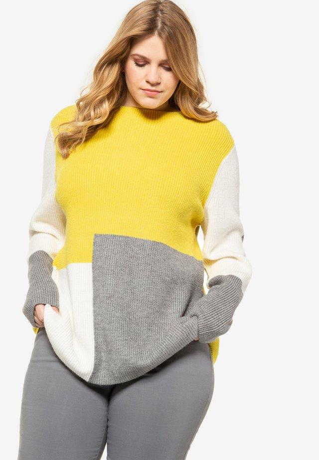 Jumper - lemon yellow/grey