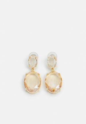 DAUPHINE OVAL PENDANT EAR - Earrings - champagne