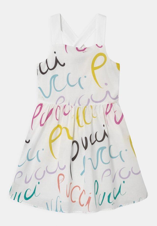 Korte jurk - bianco/multicolor