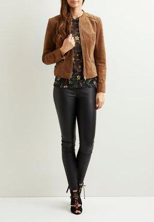 Leather jacket - oak brown