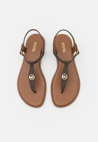 MICHAEL Michael Kors - MALLORY THONG - T-bar sandals - brown - 4