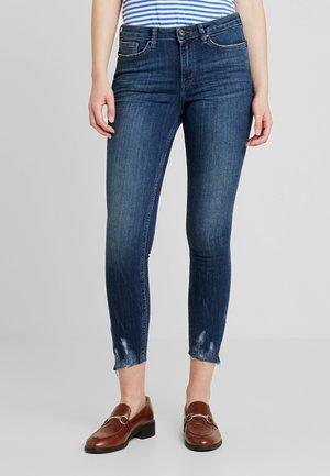 DENIM NELA - Jeans Skinny Fit - dark stone wash denim blue