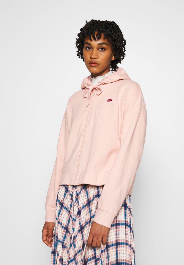 ZIP SKATE HOODIE - Zip-up hoodie - sepia rose