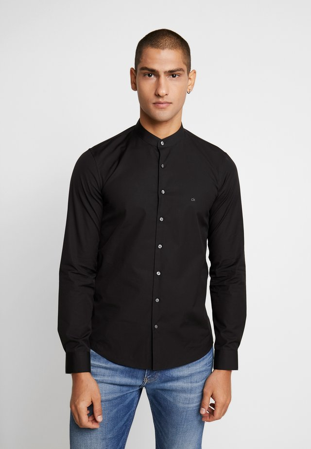 EASY IRON SLIM - Shirt - black