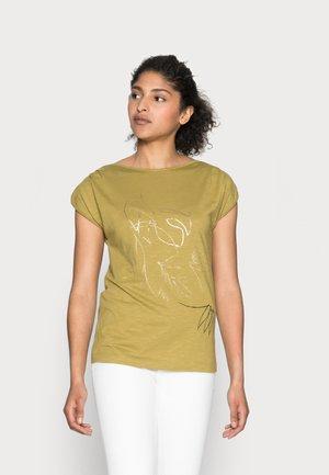 LINE - T-shirt imprimé - olive