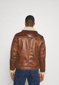Jack & Jones - JJFLIGHT JACKET - Faux leather jacket - cognac - 2