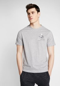 Reebok - OST SPEEDWICK GRAPHIC TEE - T-shirt med print - mid grey heather - 0