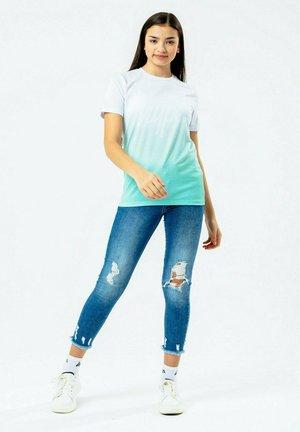 Print T-shirt - mint/white
