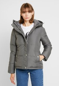 Hollister Co. - ELEVATED CORE PUFFER JACKET - Light jacket - grey - 0