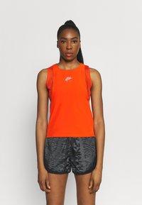Nike Performance - AIR TANK - Top - team orange/silver - 0