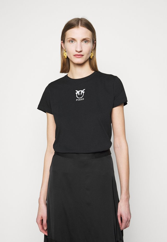 BUSSOLANO - T-shirt con stampa - black