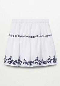 Mango - BRODÉE - A-line skirt - blanc cassé - 1