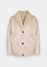 STEPHANIE DURANT SLANTED POCKET - Light jacket - beige