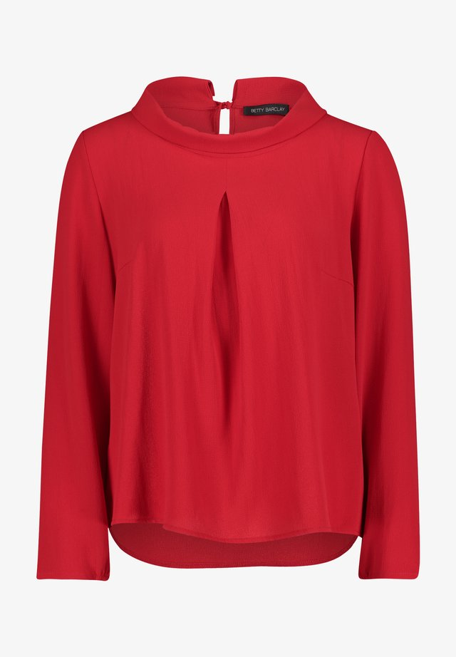 Blouse - tango red