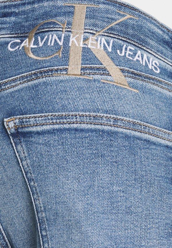 Calvin Klein Jeans SUPER SKINNY - Jeansy Skinny Fit - denim light/jasnoniebieski Odzież Męska DQJX